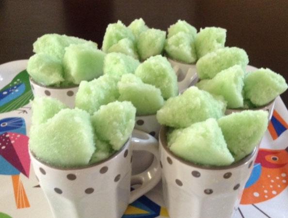 Resep Kue Mangkok Tape Ketan Hijau
