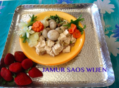 Resep Jamur Saos Wijen