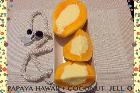Resep Papaya Hawaii dan Coconut Jello