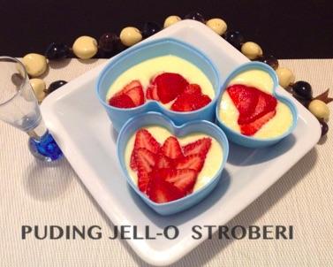 Resep Puding Jello dan Stroberi