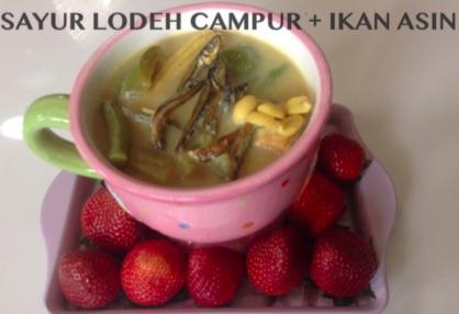 Resep Sayur Lodeh Campur & Ikan Asin