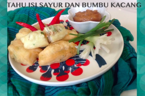 Resep Tahu isi Sayur & Bumbu Kacang