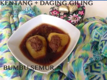Resep Kentang & Daging Giling Bumbu Semur