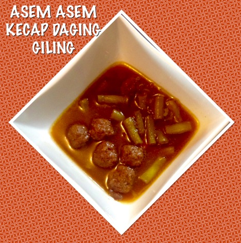 Indonesian Asem Asem MeatBalls with Sweet Soy Sauce