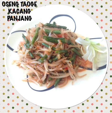 Indonesian Fried Long Bean & Soybeans Sprouts Recipe