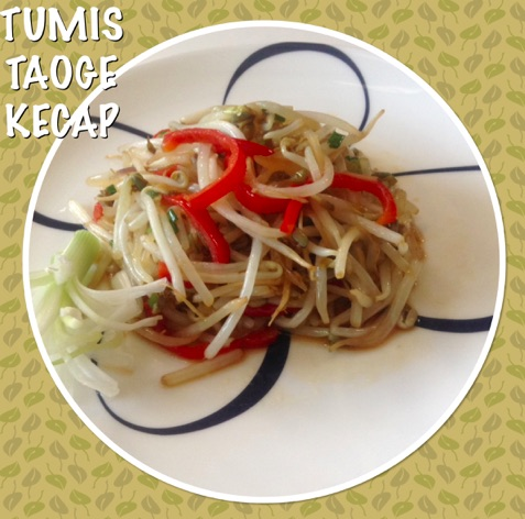 Soybean Sprouts with Indonesian Sweet Soy Sauce Recipe