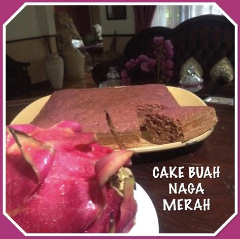Resep Cake Buah Naga Merah