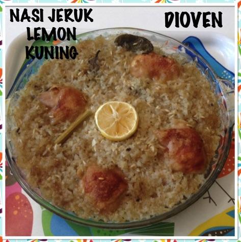 Nasi Jeruk Lemon Kuning Dioven