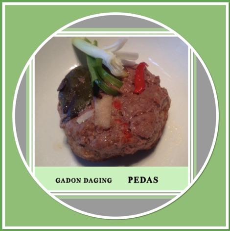 Resep Gadon Daging Pedas