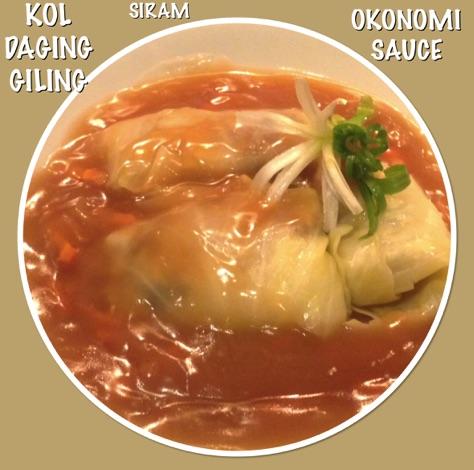 Resep Kol Daging Giling Siram Okonomi Sauce