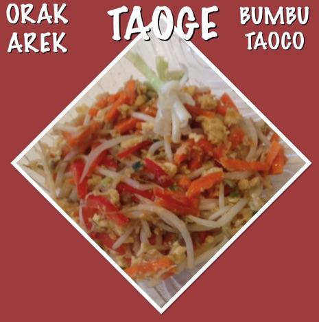 Resep Orak Areak Taoge Bumbu Taoco