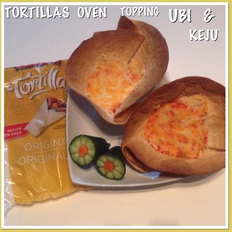 Resep Tortillas Oven Topping Ubi & Keju