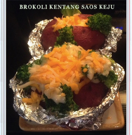 Resep Brokoli Kentang Saos Keju