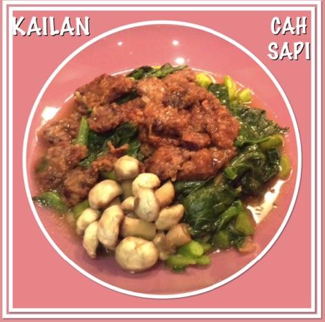 Resep Kailan Cah Sapi
