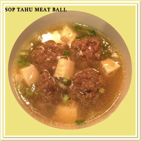 Resep Sop Tahu Meat Ball