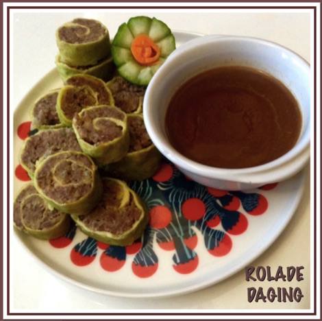 Resep Rolade Daging Saos Coklat atau Kuah Semur
