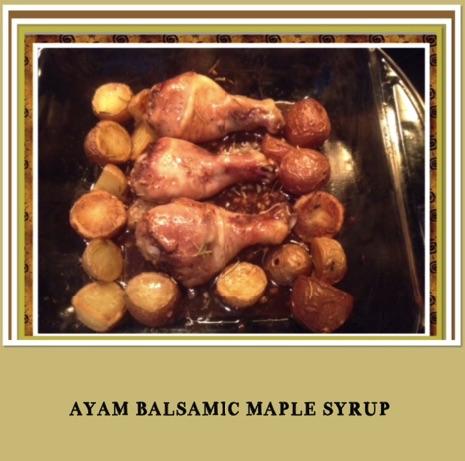 Resep Balsamic Maple Glazed Chicken Wings