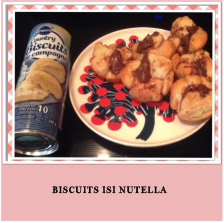 Resep Biscuits Isi Nutella