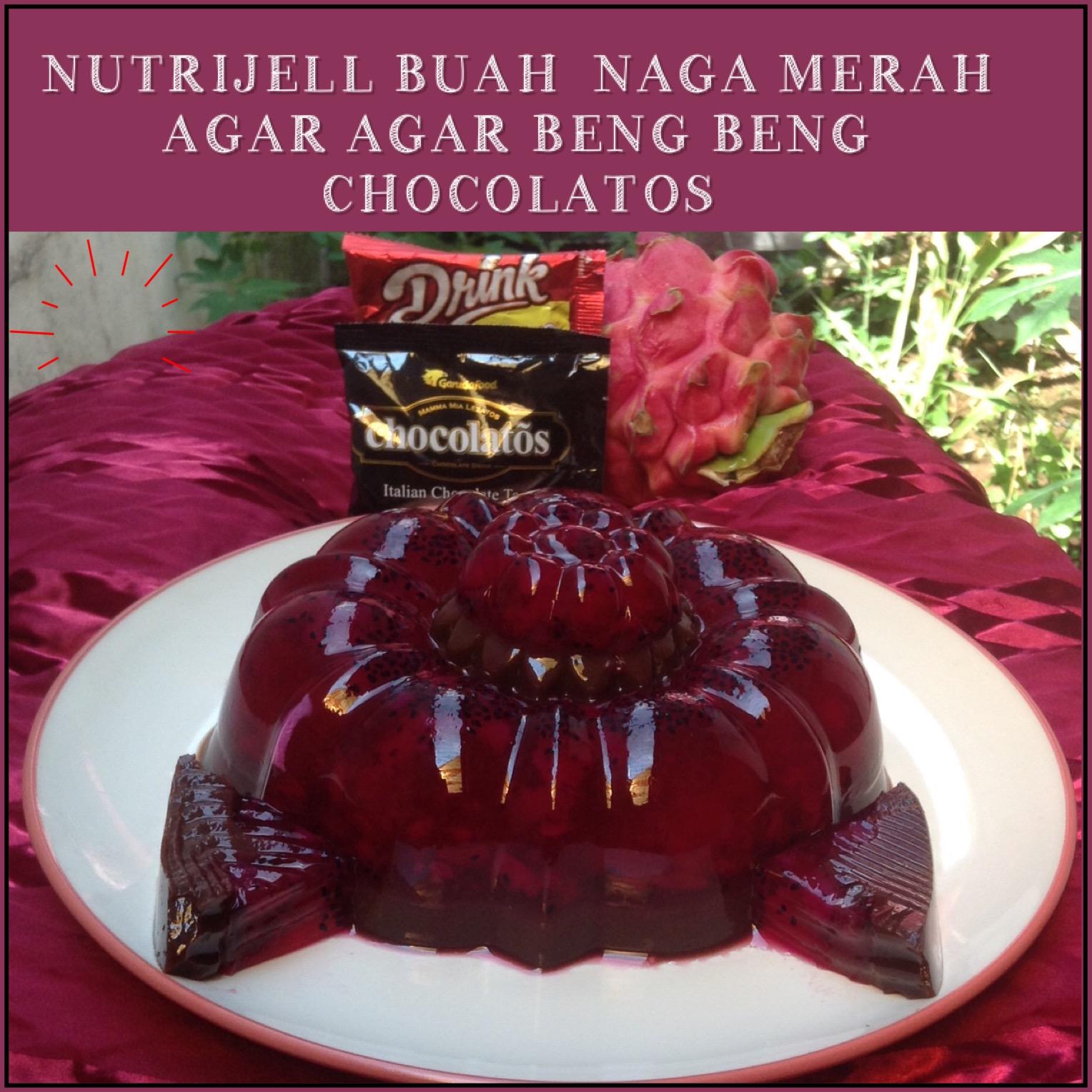 Resep Nutrijell Buah Naga Merah – Agar Agar Beng Beng Chocolatos