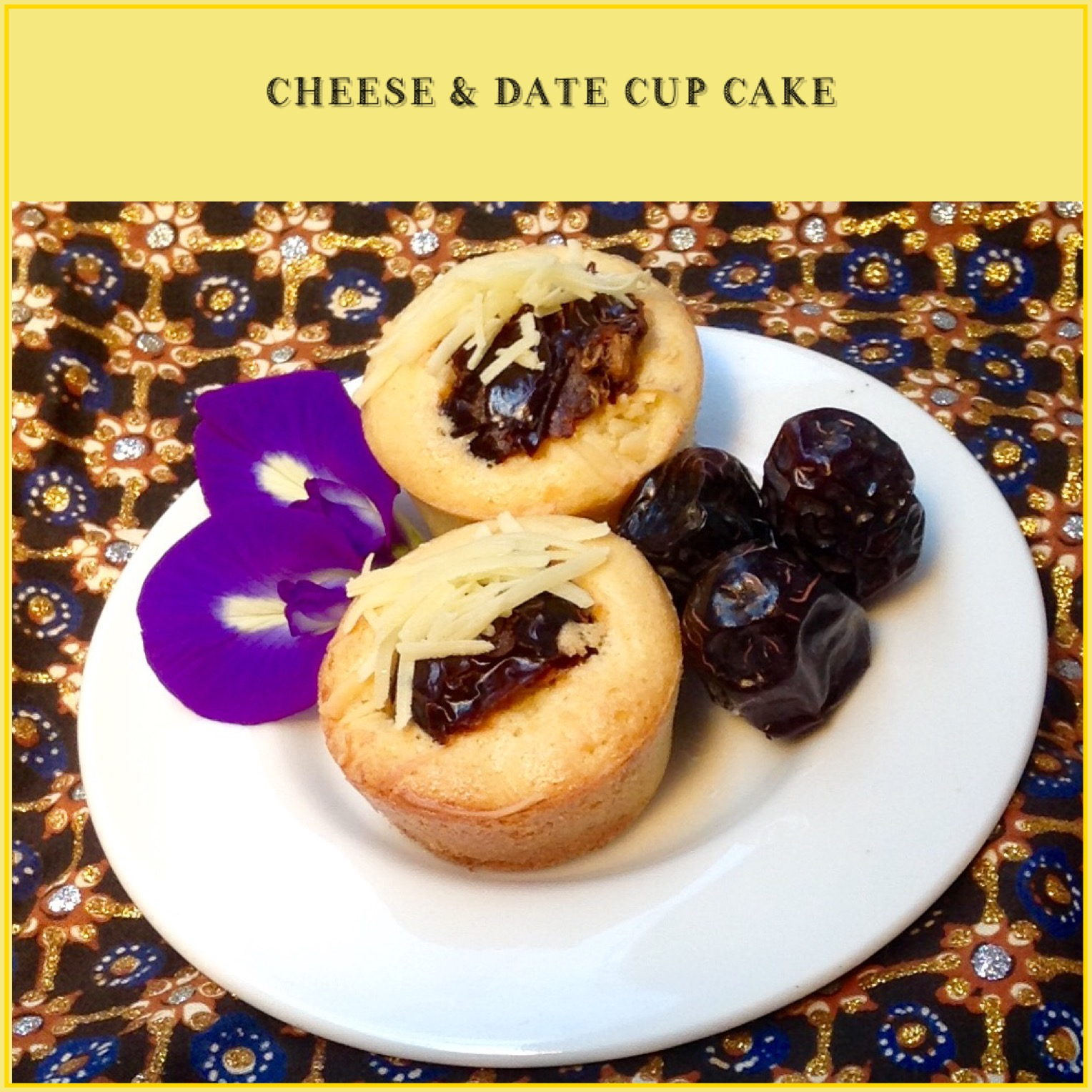 Resep Cheese & Date Cupcake