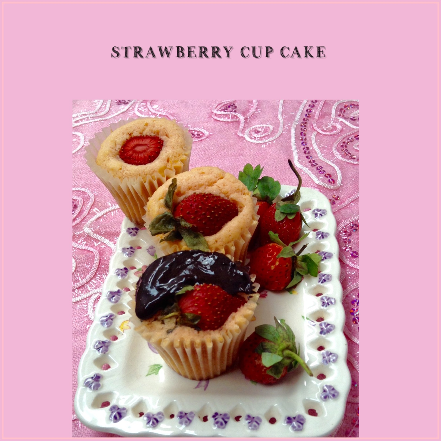 Resep Strawberry Cupcake