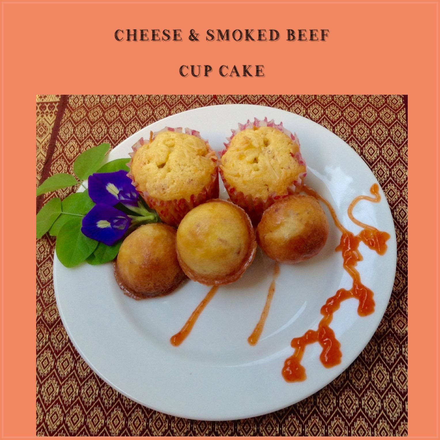Resep Cheese & Smoked Beef Cupcake