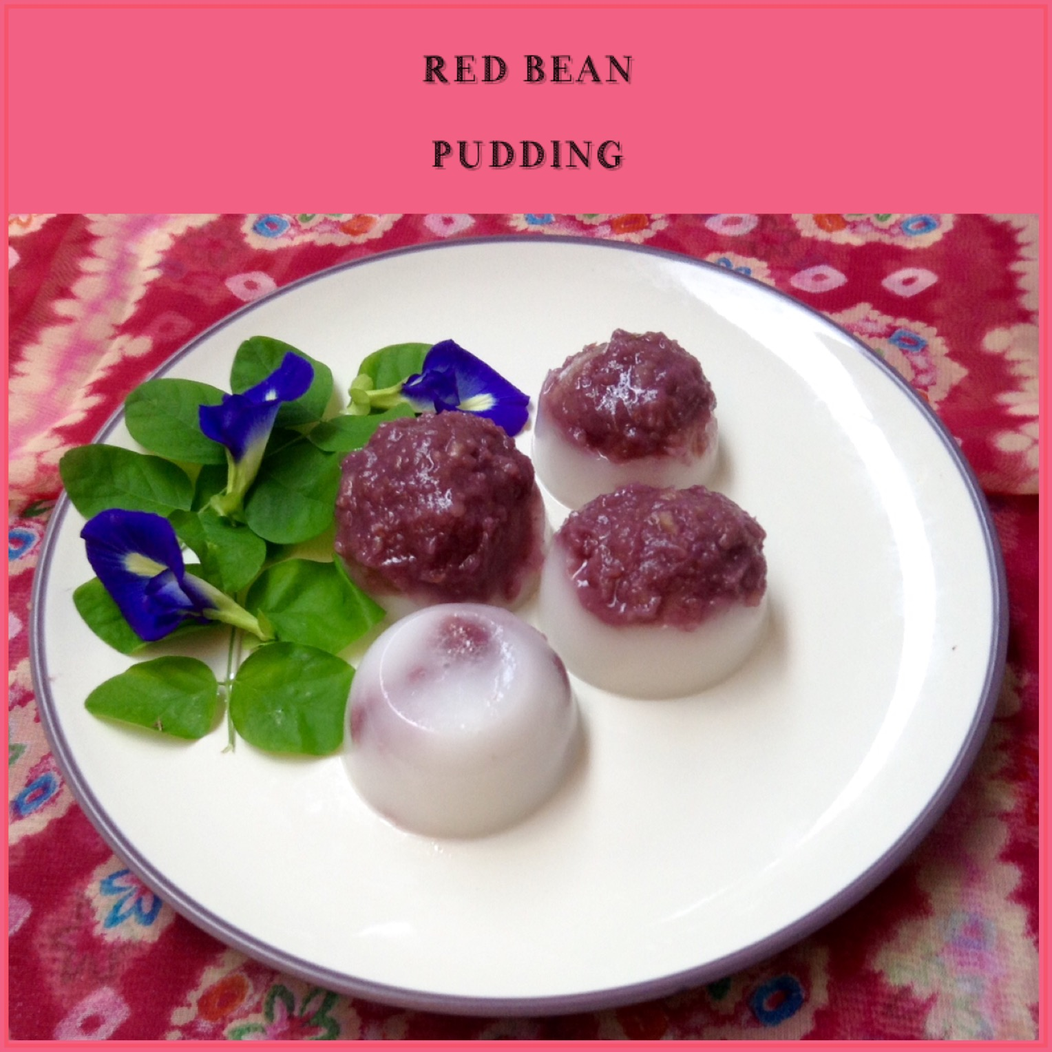 Resep Red Bean Pudding