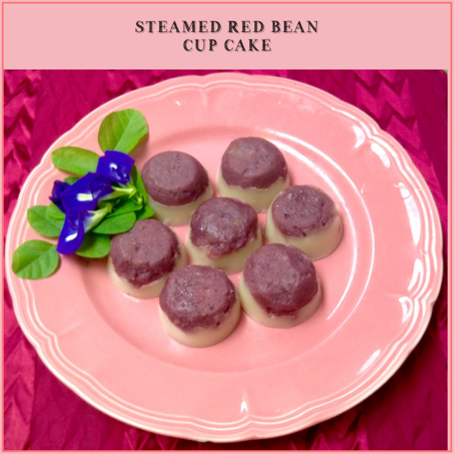 Resep Steamed Red Bean Cupcake