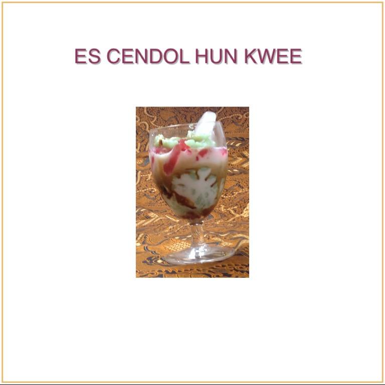 Resep Es Cendol Hunkwee