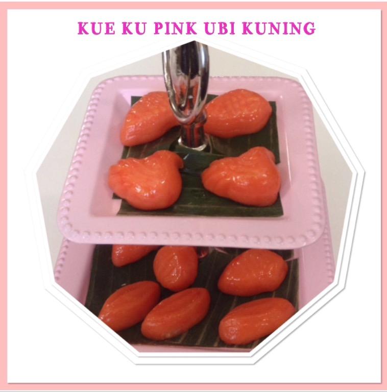 Resep Kue Ku Pink Ubi Kuning