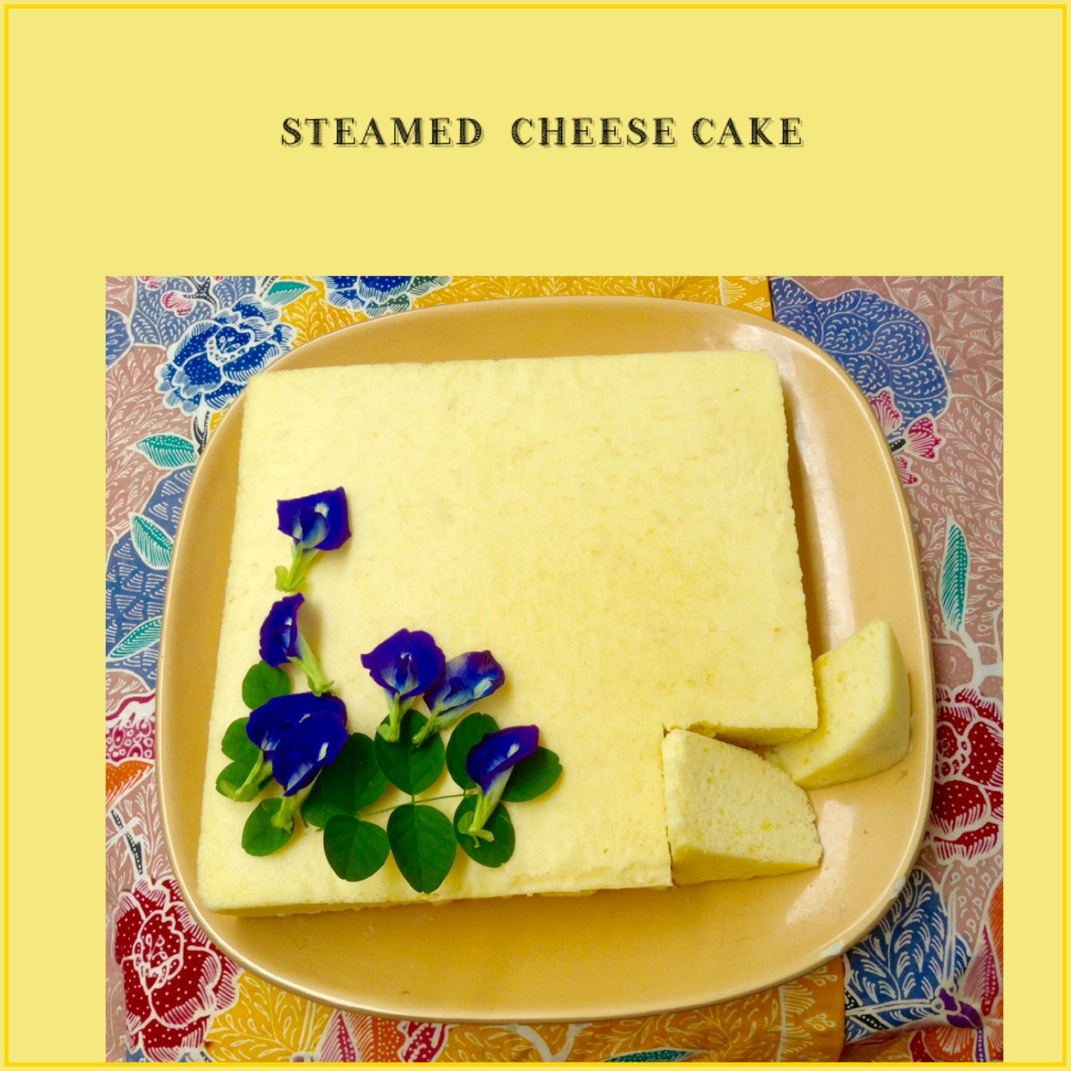 Resep Cake Keju Kukus