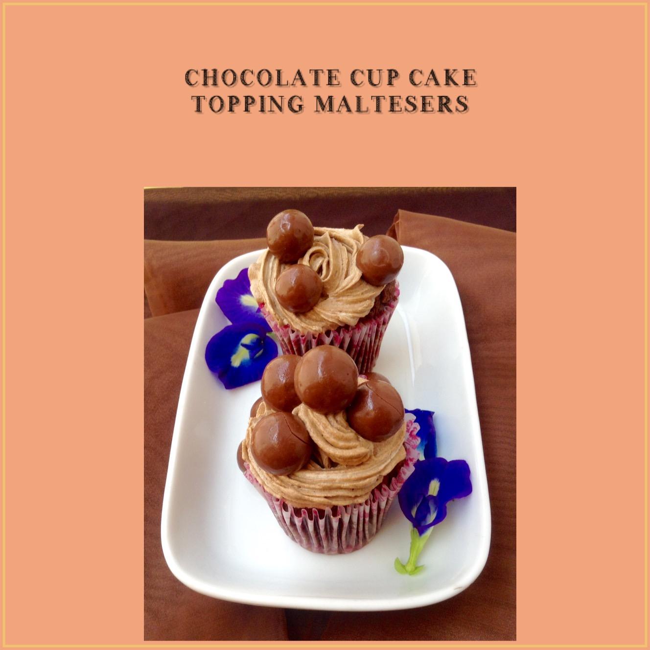 Resep Chocolate Cupcake Topping Maltesers