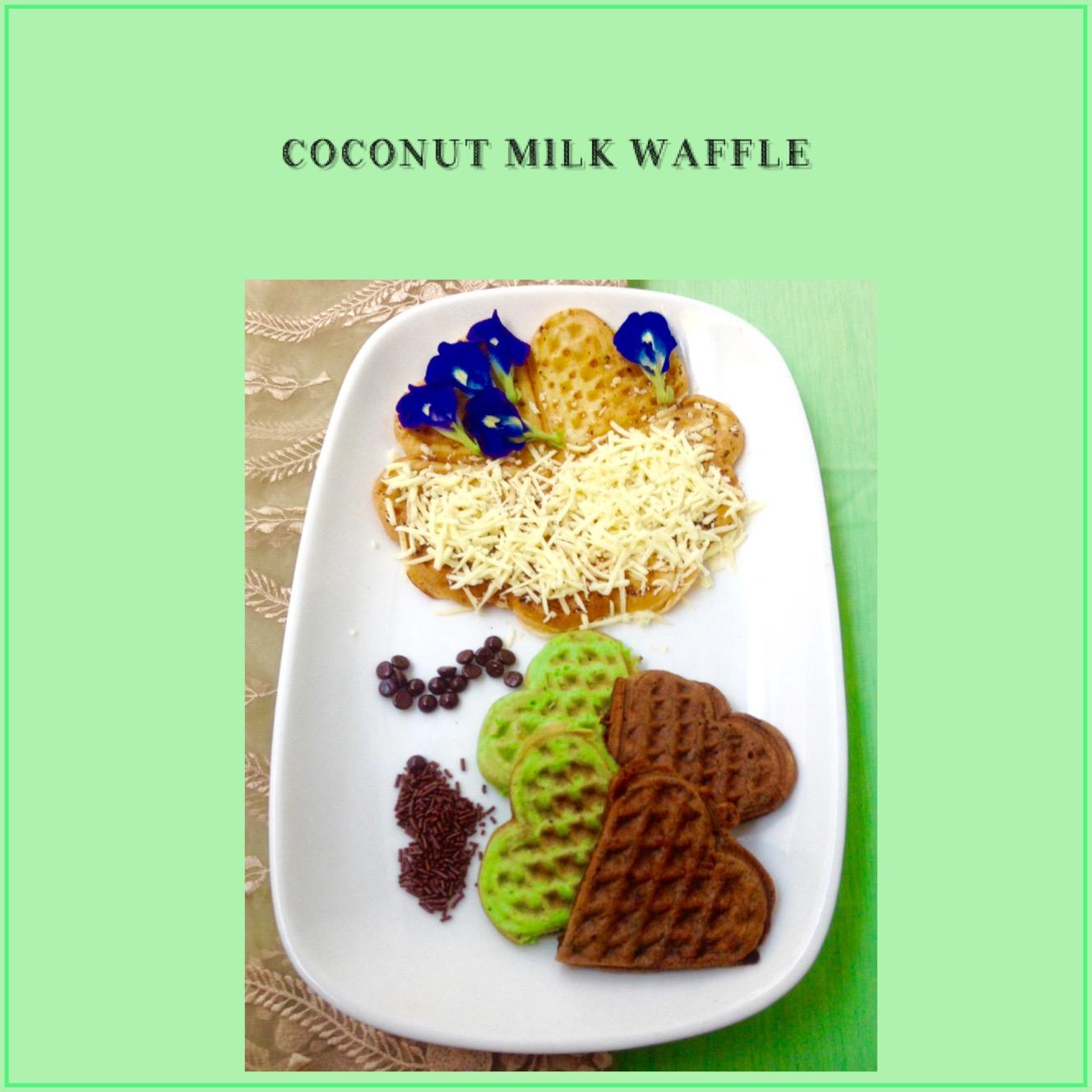 Resep Coconut Milk Waffle