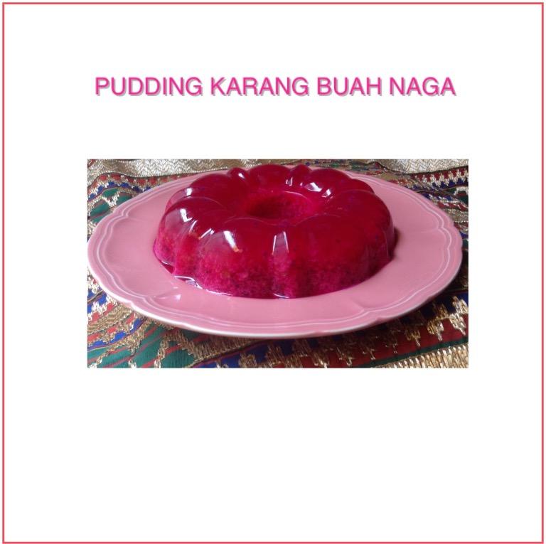 Resep Puding Karang Buah Naga