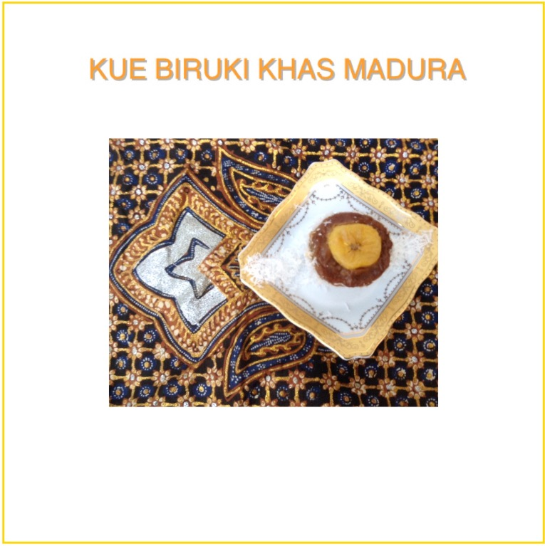 Resep Kue Biruki Khas Madura