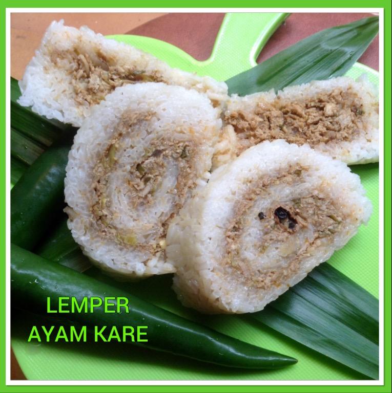 Resep Lemper Ayam Kare Gulung