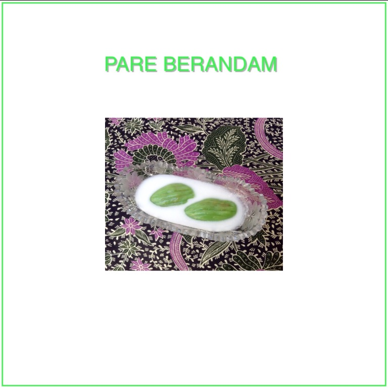 Resep Pare Berandam