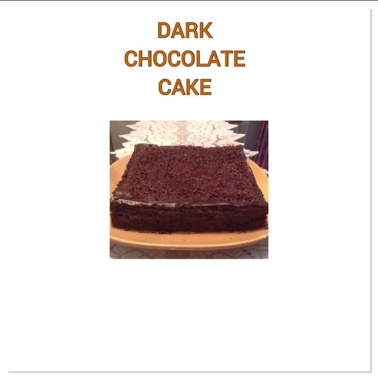 Resep Dark Chocolate Cake