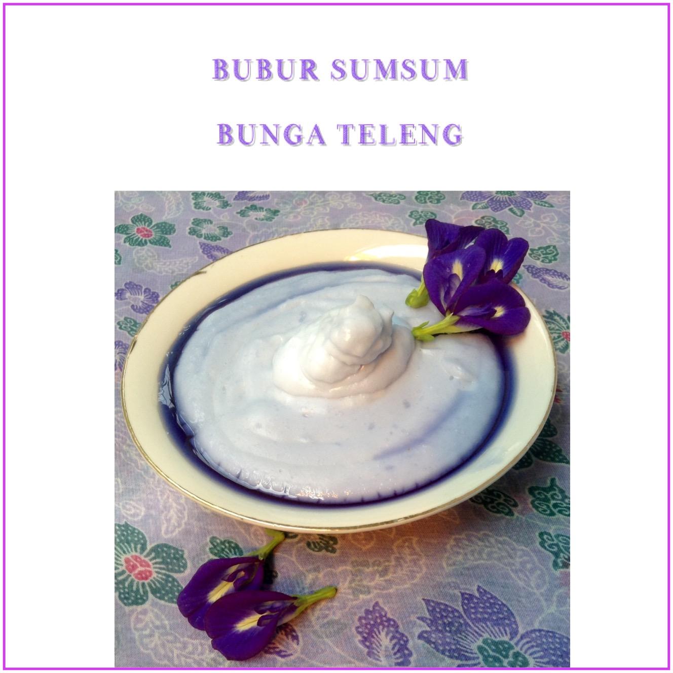 Resep Bubur Sumsum Bunga Teleng