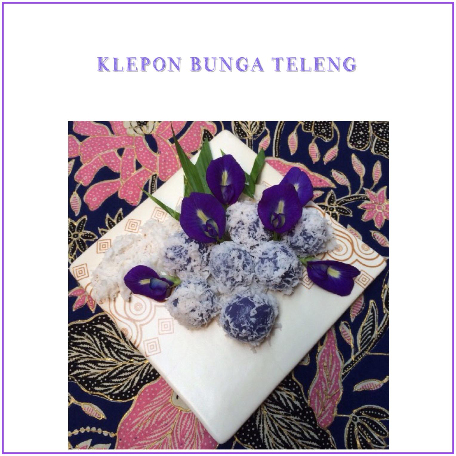 Resep Klepon Bunga Teleng