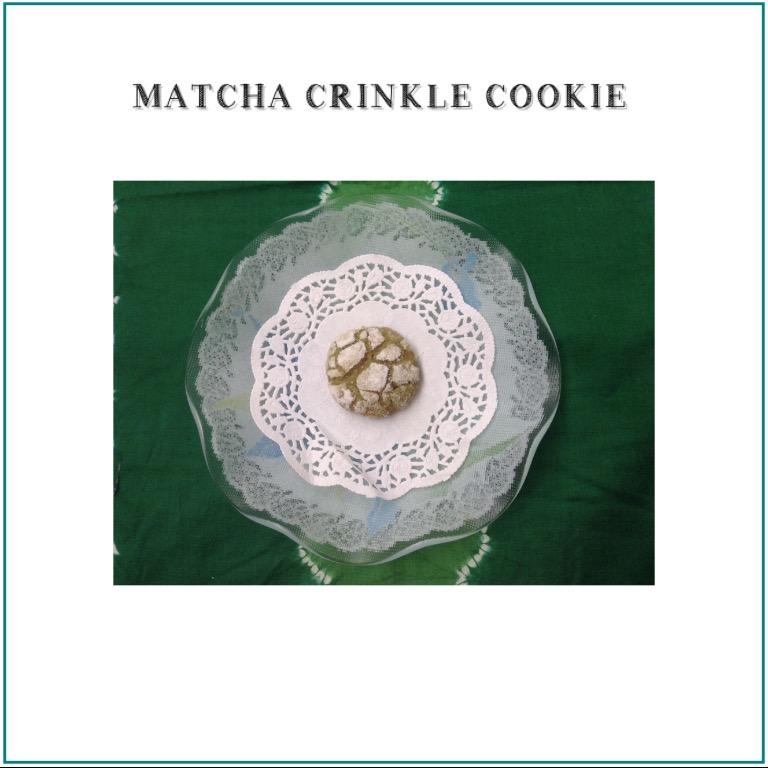 Resep Matcha Crinkle Cookie