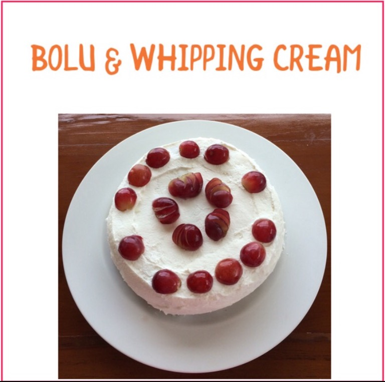 Resep Bolu & Whipping Cream
