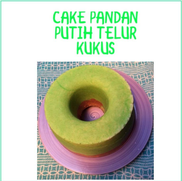 Resep Cake Pandan Putih Telur Kukus