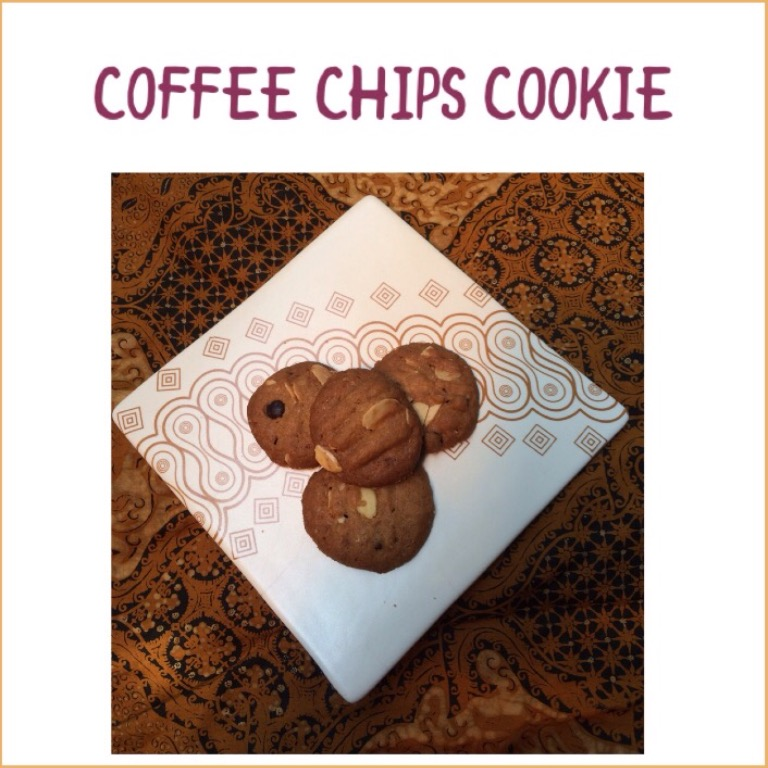 Resep Coffee chips cookie