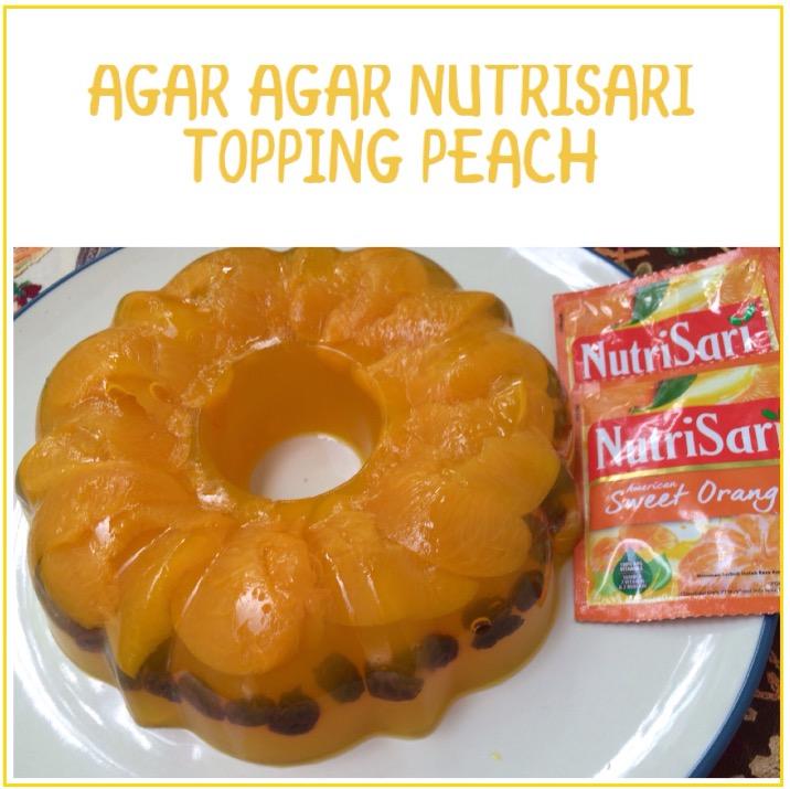 Agar agar Nutrisari Topping Peach
