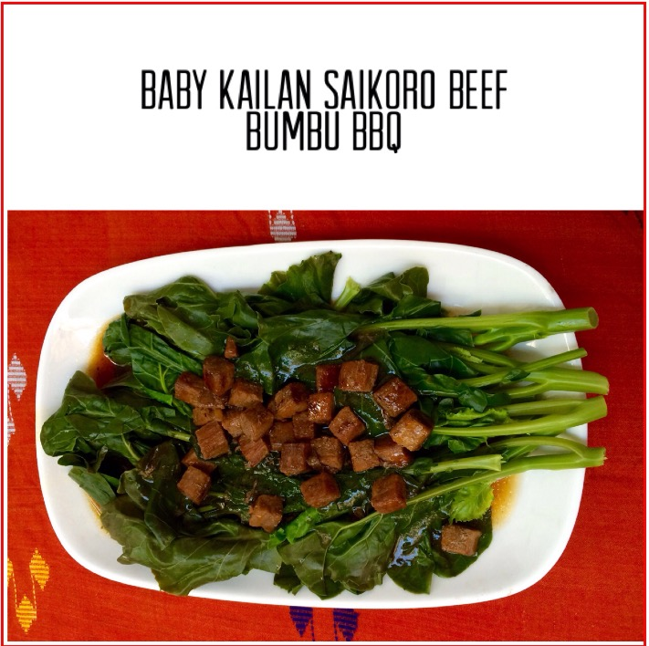 Resep Baby Kailan Saikoro Beef Bumbu Bbq