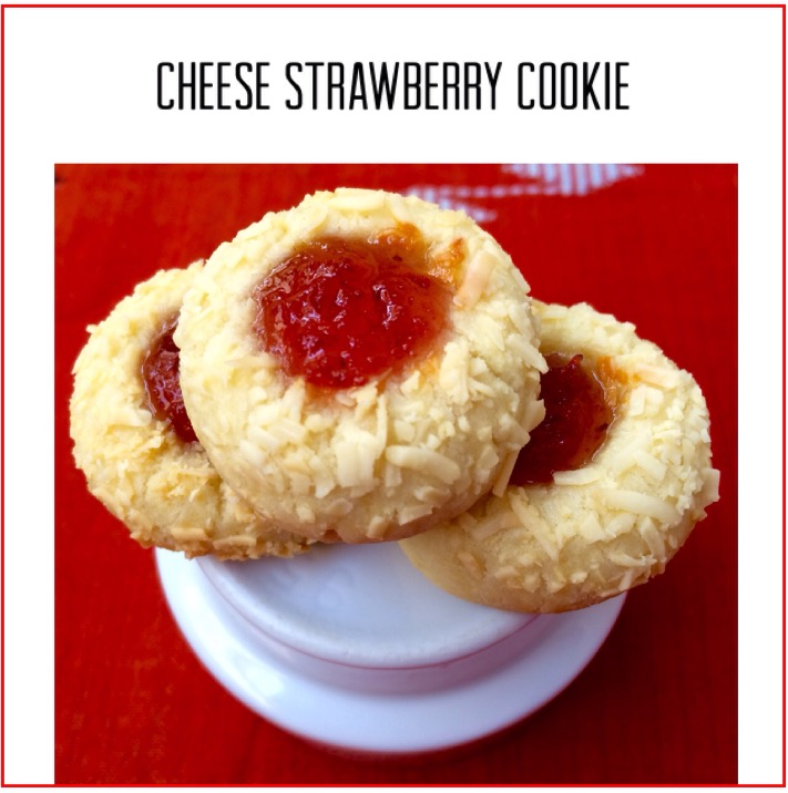 Resep Cheese Strawberry Cookie