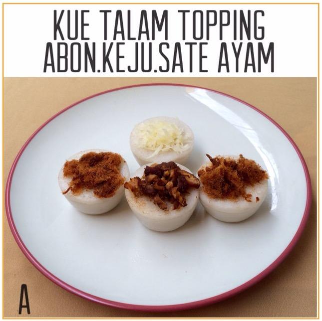 Resep Kue Talam Topping Abon, Keju, Sate Ayam