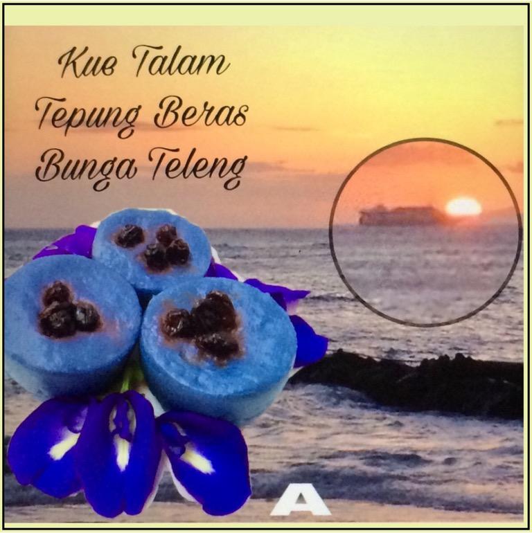 Kue Talam  Tepung Beras Bunga Teleng